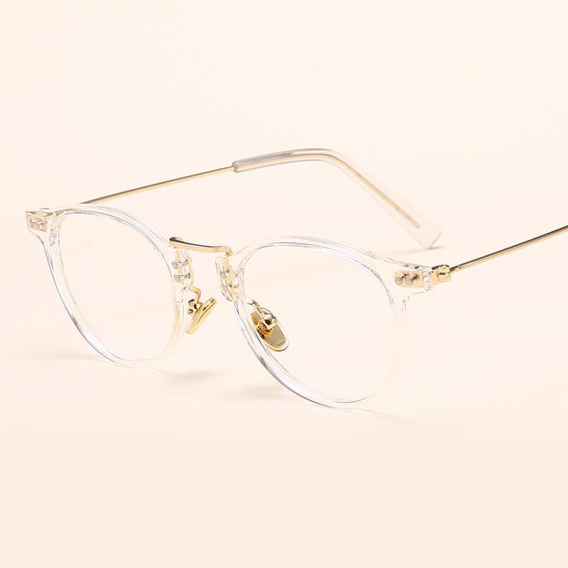 Wajah Sedikit Merah Bingkai Kacamata Wanita Rabun Dekat Versi Korea Pasang  Retro Sangat Ringan Gaya Harajuku 1afaa384ac