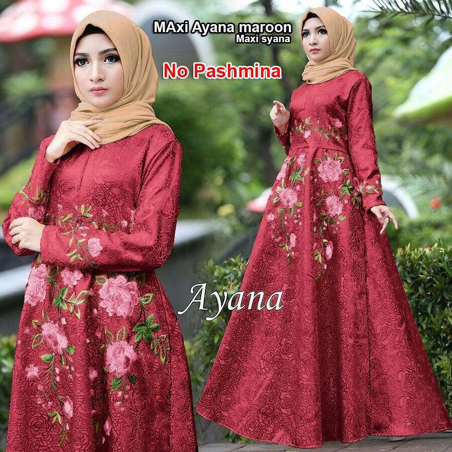 GSD - Baju Wanita/Baju Gamis Syari/Dress Muslim/Baju Muslim/ Maxi Dress Syana