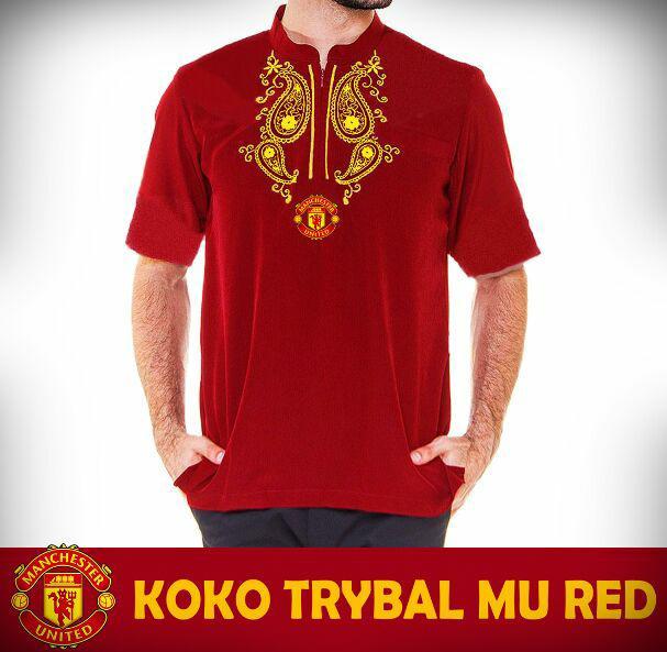 Baju Koko Muslim Bola LIMITED EDITION Dominic Trybal Series Man United - Merah