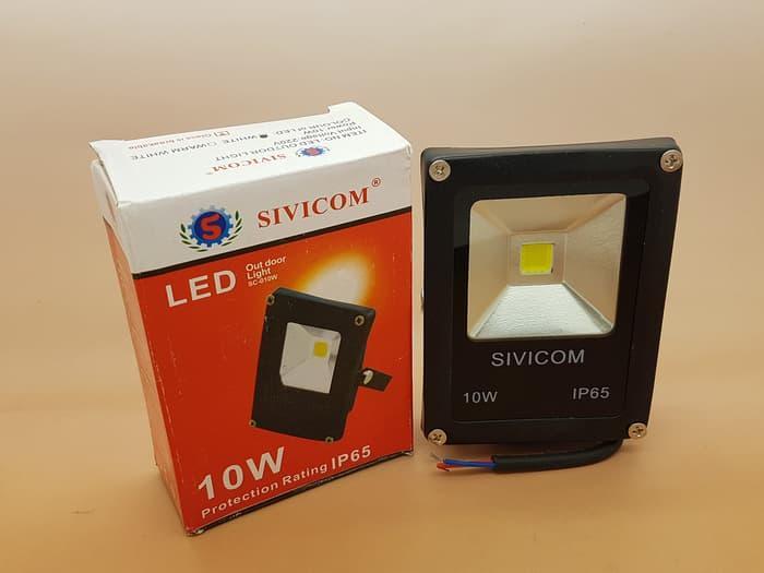 SIVICOM Floodled 10W / Led Sorot Waterproof IP65 (TIPIS) / Lampu Sorot