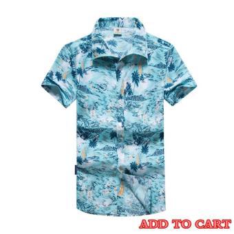 Pencari Harga Kemenangan Baru Pria Menjual Pantai Shirt Casual Loose Tabir  Surya Lengan Pendek Shirt ( a32ecce81e