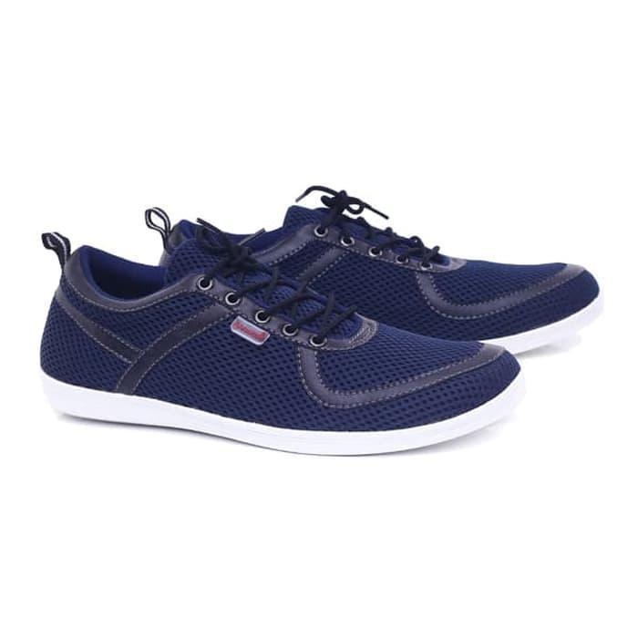 Sepatu pria/sepatu laki-laki Sepatu Casual Kets Sneakers  Sepatu Main Nongkrong  keluaran terbaru model terbaru harga murah warna biru