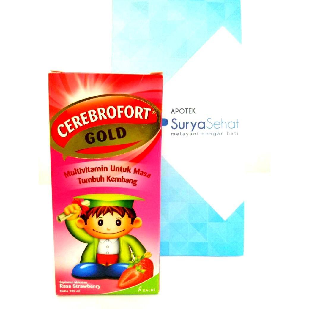 Rp 17.099. CEREBROFORT GOLD Strawberry 100ml Multivitamin Masa Tumbuh KembangIDR17099