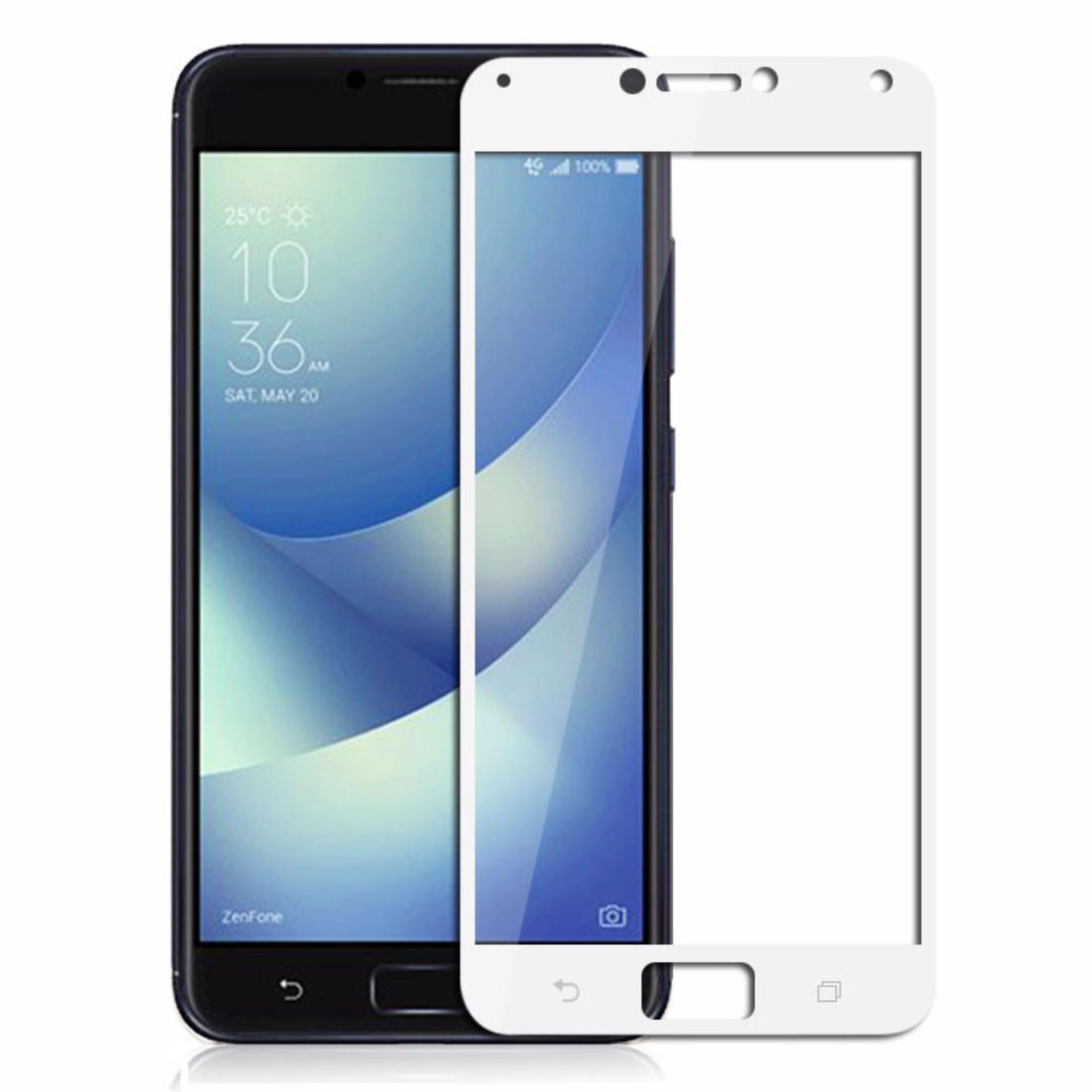 Tempered Glass Screen Protector / Anti Gores Kaca Asus Zenfone 4 Max Pro ZC554KL - Putih ...
