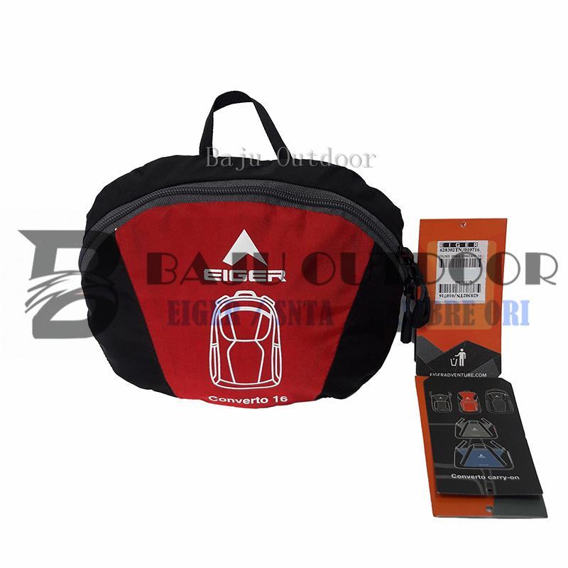 Tas Lipat Eiger 6283 Folded Daypack Converto 16 - Red