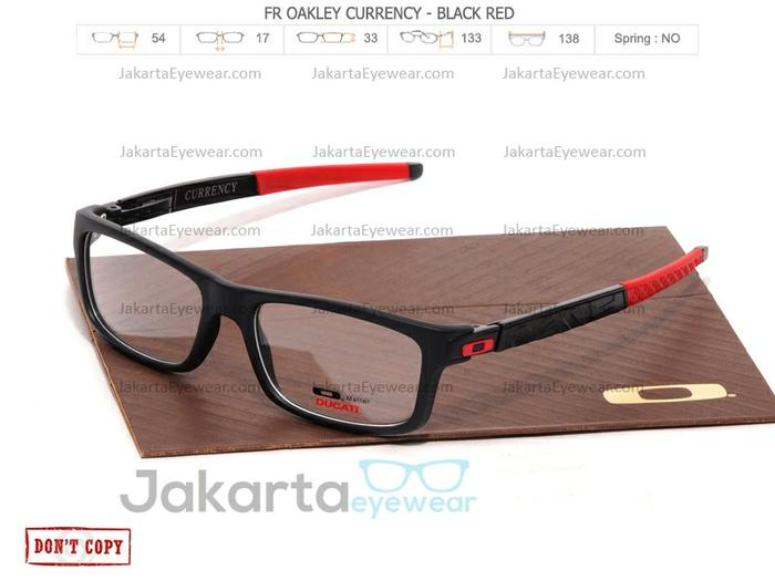 diskon 15%!! (Paket Frame Free Lens) Sale Kacamata Oakley Plastik Currency - ready stock