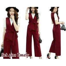 Setelan 4in1 emely  fashion wanita  muslim  fashion muslim  atasan wanita   kemeja d6e09db46a