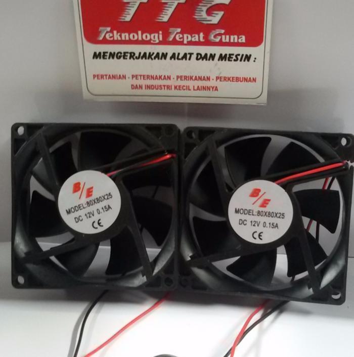 Hemat 10%!! Fan Dc 12V  80X80X25 U002F Kipas Dc 8