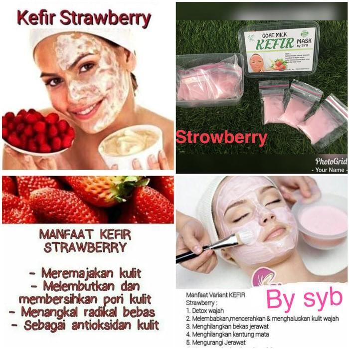 Kidstafun - Kefir Mask Strawberry Original by SYB - Masker Kefir Strawberry - Multicolor
