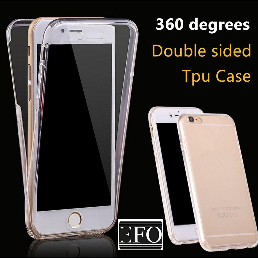 Double Crystal Jelly Case For IPhone 7 Soft Case Apple Double Protection
