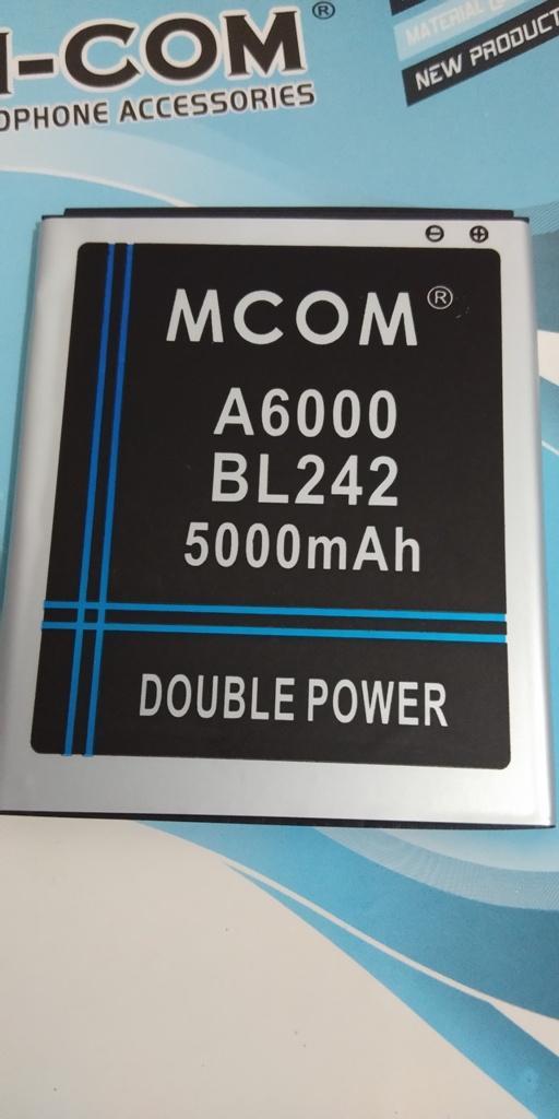 MCOM Baterai Batre Batere Battery Battre Batrai LENOVO A6000 . A6000+ . A6000 + . A6000 Plus . A601