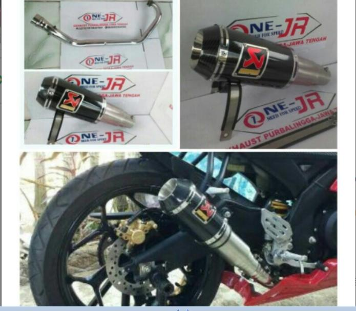 knalpot racing AKRAPOVIC GP M1 FOR YMH R15