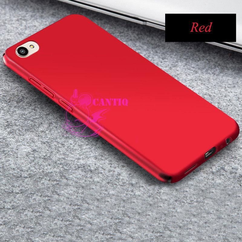 QCF Case Vivo Y53 2017 Hard Slim Red Mate Anti Fingerprint Hybrid Case Baby Skin Vivo Y53 2017 / Baby Hardcase Vivo Y53 2017 / Baby Skin Vivo Y53 2017 / Casing Vivo Y53 2017 / Case Vivo Y53 2017 - Merah / Red