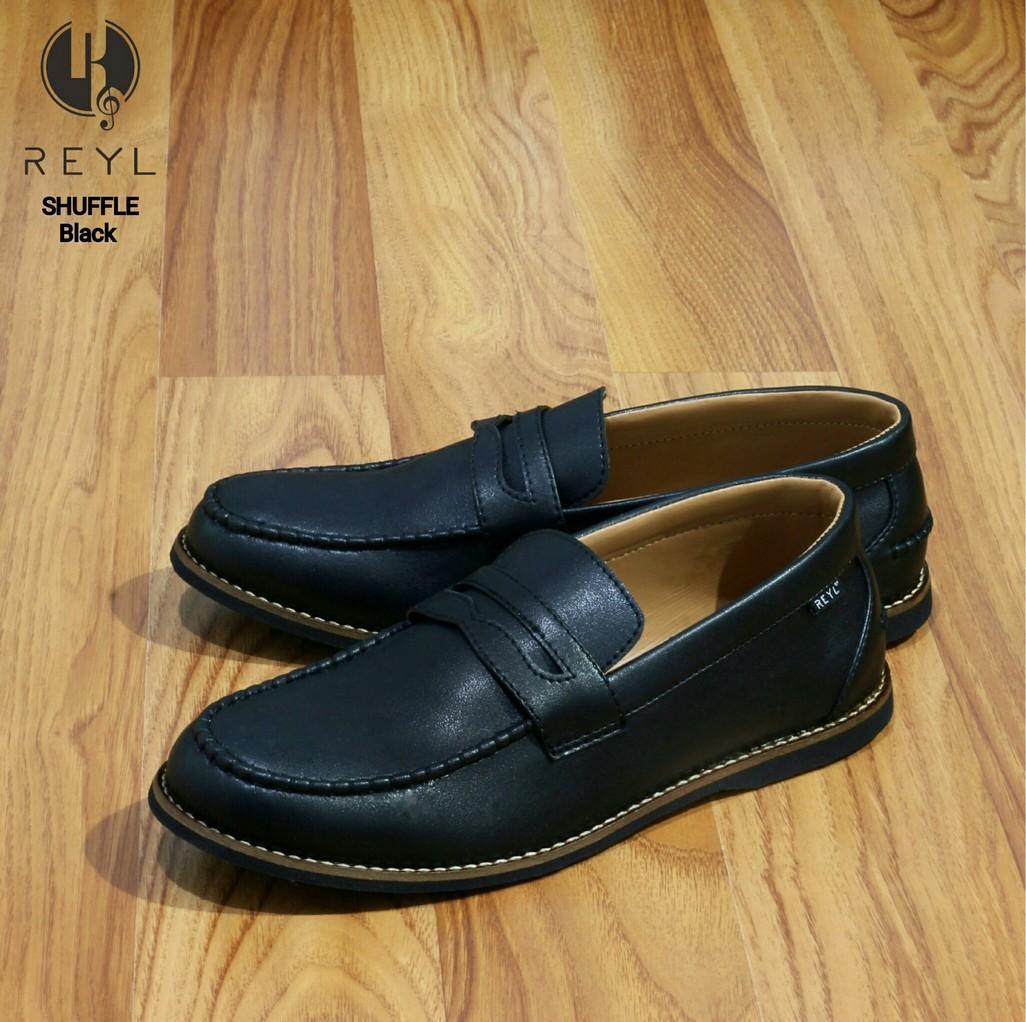 Sepatu Pria Reyl Tone Original Clothing Slip on Laki Laofers Moccasin Cowok  Murah Sepatu Kantor Pria Kulit Asli Bukan Sintetis Tekstur Serat Kayu  Pantofel ... abfdd16ab7