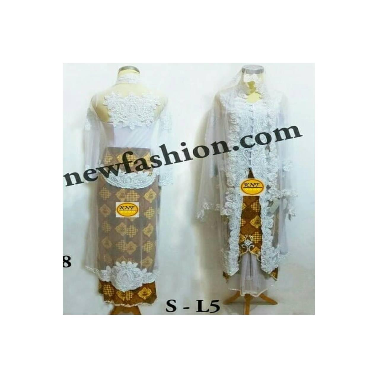 DRESS MUSLIM Set Kebaya Abaya Akad Nikah Muslim RVy Collection