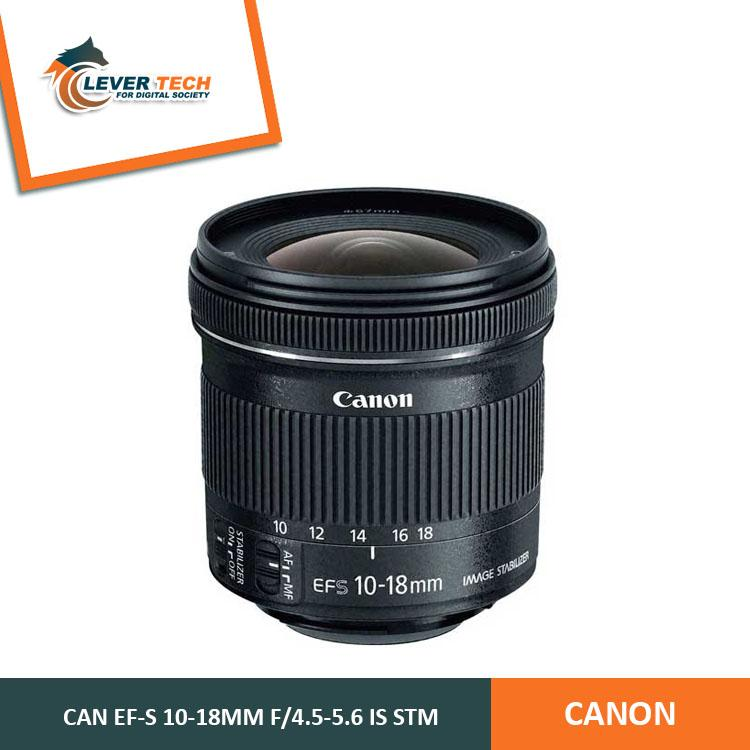 Canon Lensa EF-S 10-18mm f/4.5-5.6 IS STM - Hitam