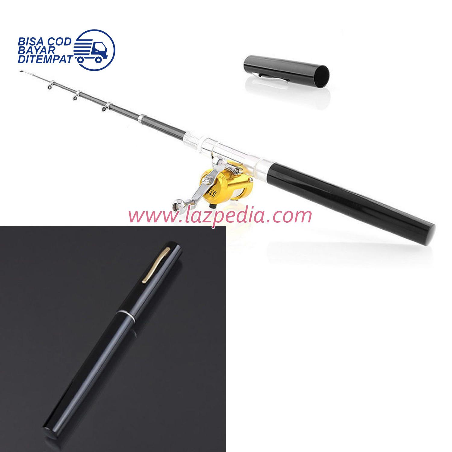 Laz COD - Mini Portable Extreme Pen Fishing Rod Length 1 M / Pancing Pena / Hitam - Lazpedia