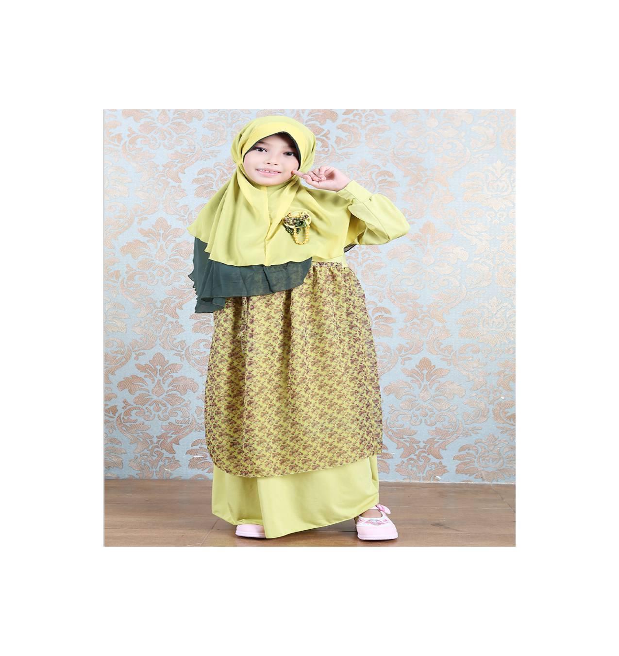 Gamis Anak Azka Somaya Ga01 - Yellow