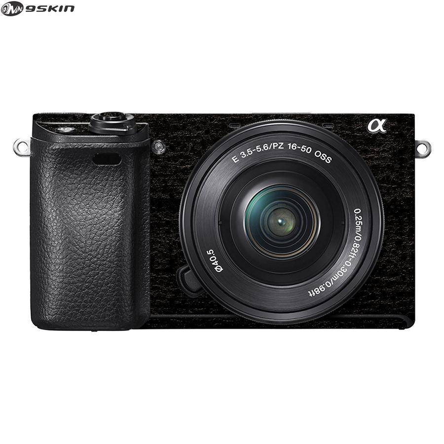 9Skin - Premium Skin Protector untuk Kamera Mirrorless Sony A6300 -  Tekstur Burned Wood - Hitam
