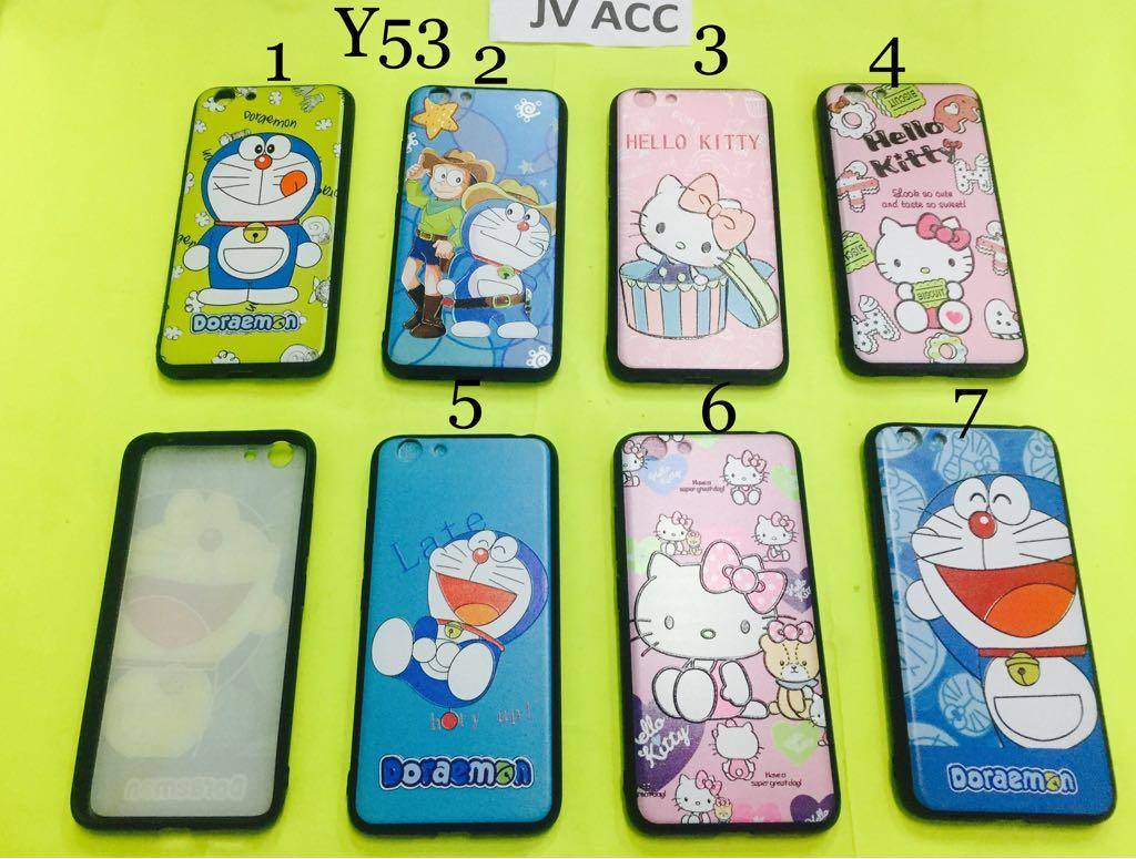 GROSIR FUZE CASE HELLOKITTY DORAEMON VIVO Y53 KODE 1