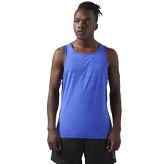 Reebok Activchill Men's Singlet Tanktop Olahraga Lari Fitness Gym Pria - Blue CE1278