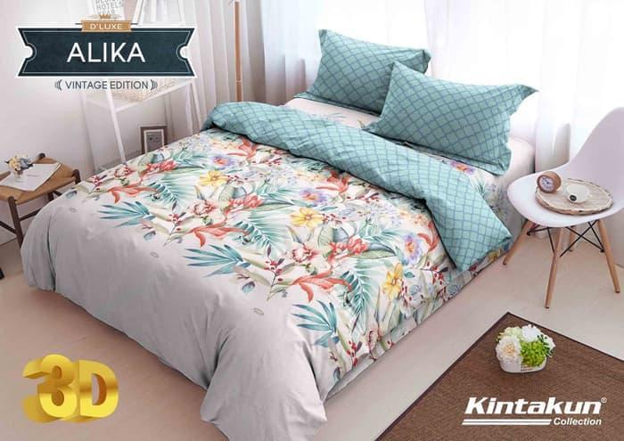 Exclusive Bedcover D'luxe Kintakun ukuran 160 x 200 - Alika