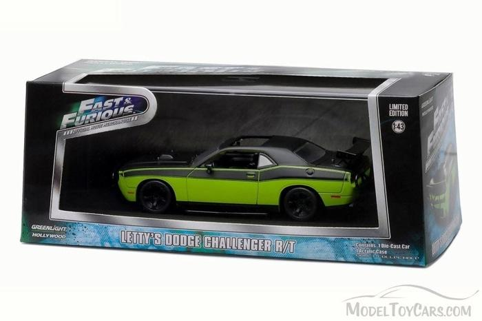 TERLARIS Greenlight 1:43 Letty's Dodge Challenger R/T 2014 Fast Furious