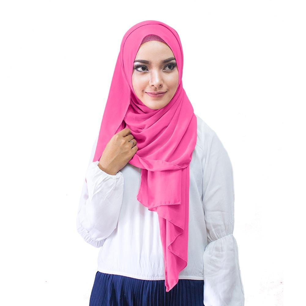 Hijabku Murah Pasmina Ceruti Kerudung Modis - [Warna Fanta]
