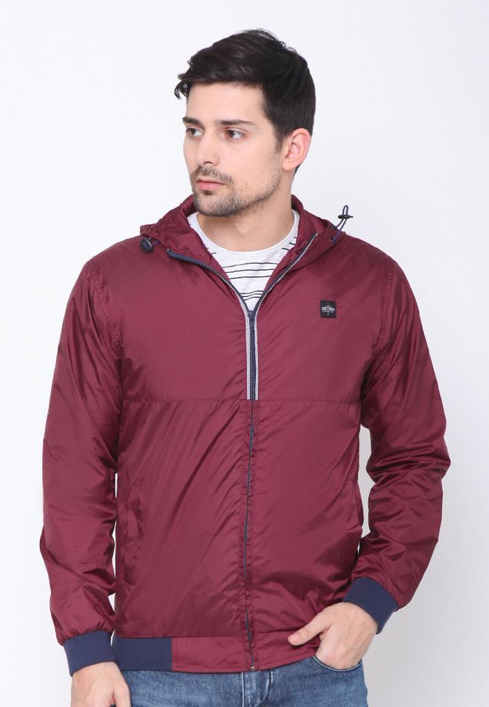 Jaket Pria Merah Parasut Bagus - Merk Cressida - Sumber Rejeki Jeans