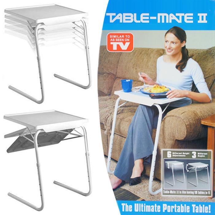 [ GARANSI 100% ]      Table Mate II Meja Laptop Lipat Portable Laptop - White @ meja belajar lipat anak makan dinding kayu laptop portable setrika karakter