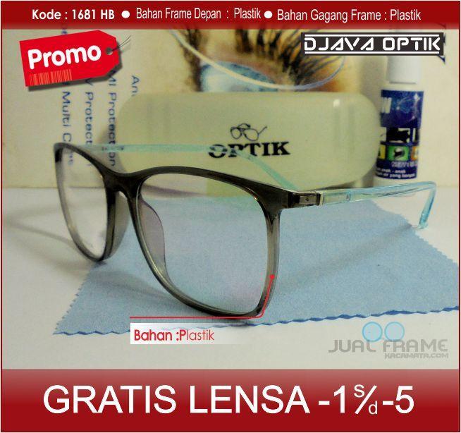 Frame kacamata 1681 + lensa minus/plus/silinder kacamata baca gaya untuk pria dan wanita