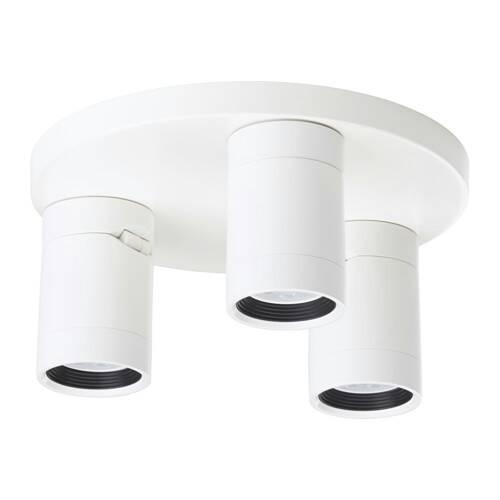 PROMO!! IKEA NYMANE Lampu Sorot Plafon dengan 3 Tempat - Putih MURAH /  BUBBLE 3 LAPIS / ORIGINAL / IKEA ORIGINAL