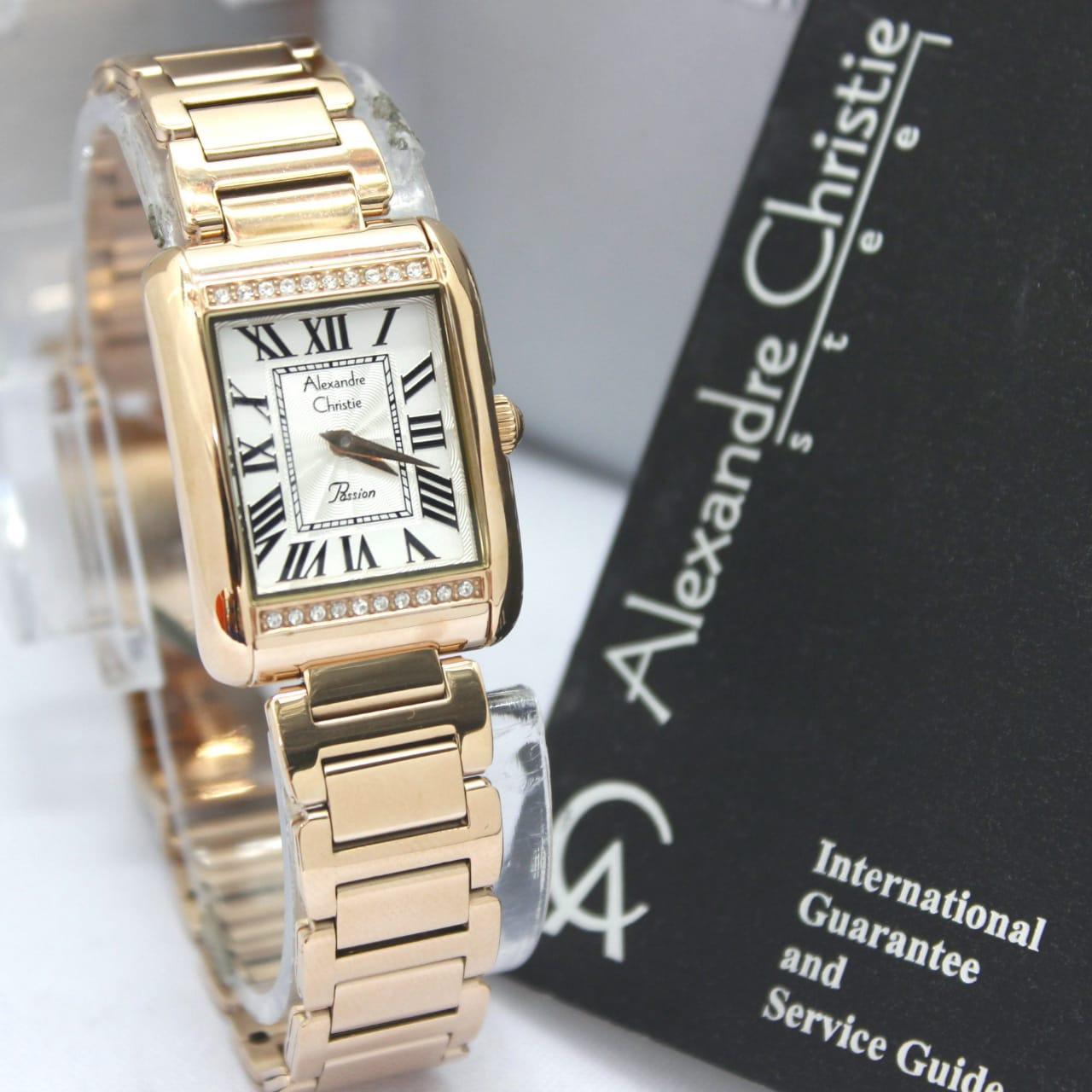 Alexandre Christie Original Watch - AC 2660LH - Jam Tangan Wanita - Stainlesstell Strap
