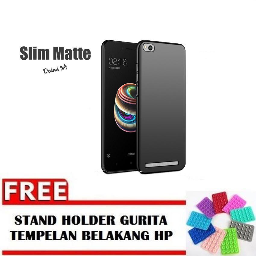 Case Slim Black Matte Xiaomi Redmi 5A Baby Skin Softcase Ultra Thin Jelly Silikon Babyskin FREE