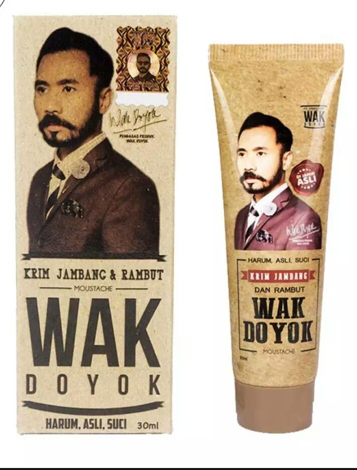 Wak Doyok Cream 30ml Original Hologram - Wakdoyok Krim Penumbuh Jambang