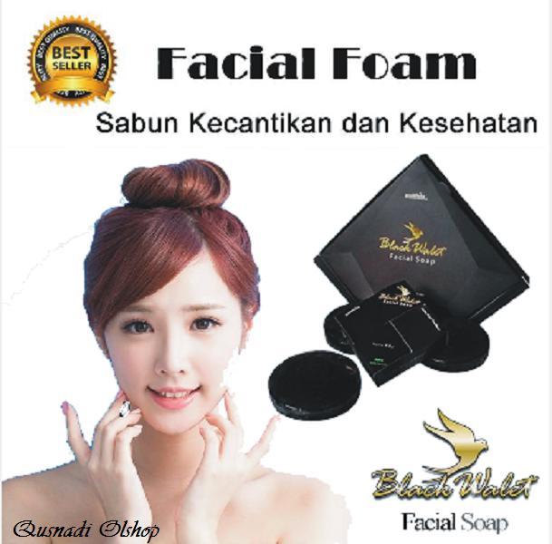 Sabun Black Walet 2 Pcs  Sabun Herbal Alami Asli Kecantikan/Pemutih Wajah  Garansi Original BPOM Promo Murah Laris Pembersih Wajah Kulit Sehat
