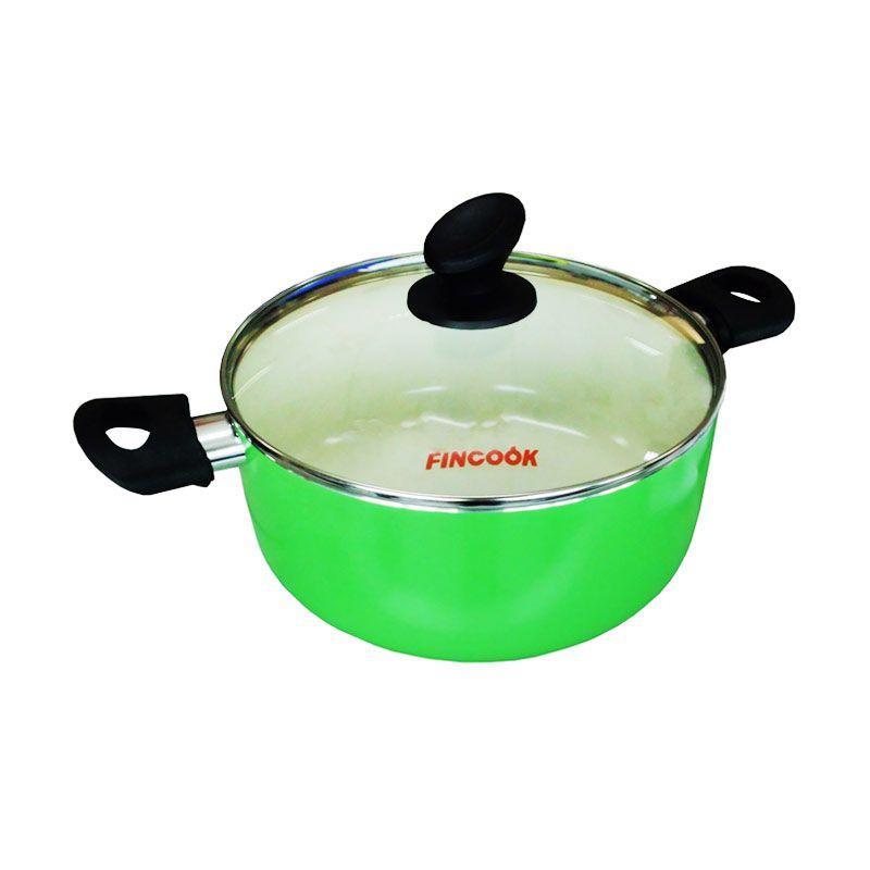 Fincook Ceramic Ceratinum Dutch Oven CDO2003 Green Panci