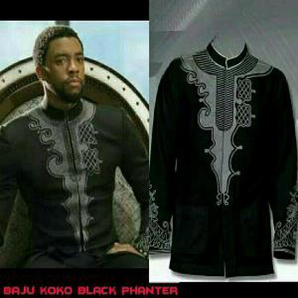 Baju Koko Bordier Black Panther