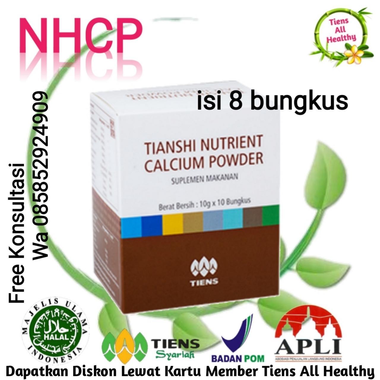 Suplemen Peninggi Badan / ECER / Susu Peninggi Terbaik Dunia / Testing / NHCP (8 sachet) Tiens All Healthy + GRATIS Kartu Diskon Member Tiens All Healthy