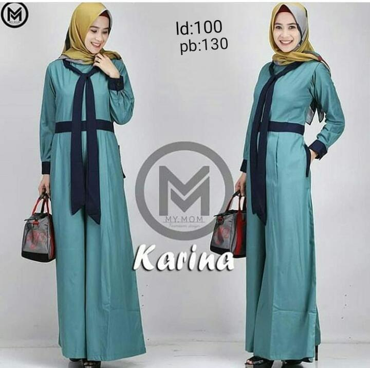 Baju Muslim Modern Jumpsuit Karina Jumpsuite Balotelly Pakaian Wanita  Panjang Playsuit Muslim Setelan Casual Fashion Kerja efe2958958