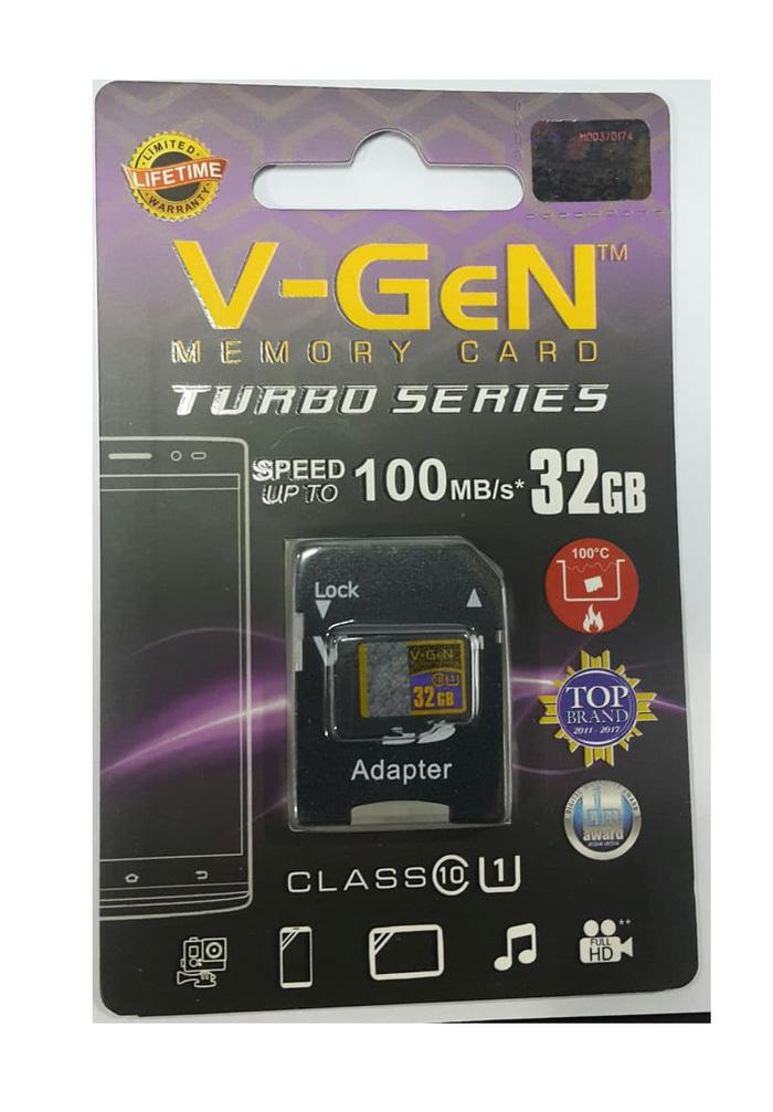 Micro SDXC V-GeN Turbo 32GB + Adapter Class 10 100MB/S - MicroSD VGEN Memory HP