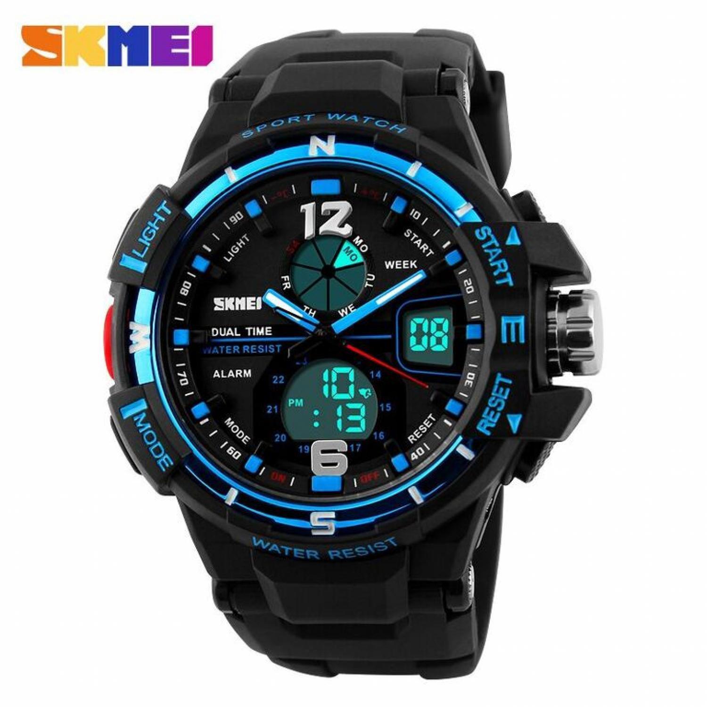 SKMEI Men Sport Analog LED Watch Anti Air Water Resistant WR 50m AD1148 Jam  Tangan Pria b826b73e3b