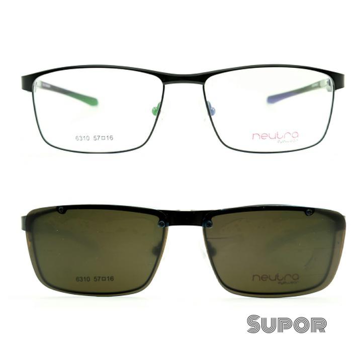 diskon 10%!! Kacamata Sport Ff32 Clip On Full Frame + Lensa Progresif Essilor - ready stock