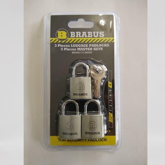 BRABUS 3 PCS GEMBOK TAS KOPER - TRAVEL KUNCI MASTER KEY 20 MM