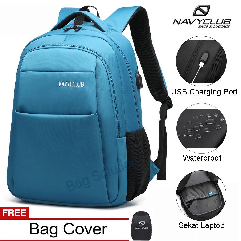Tas Travel Navy Club Terbaru Selempang Wanita Ransel Laptop Pria Punggung Backpack Built In