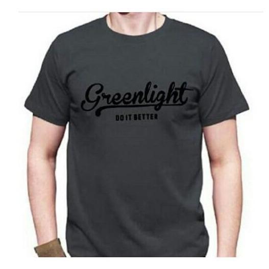 T-Shirt Kaos Kaos Pria GREENLIGHT