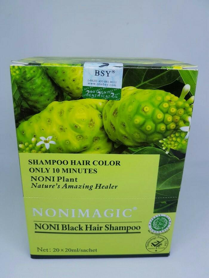 BSY Noni Black Hair Magic Shampoo - 10 Sachet