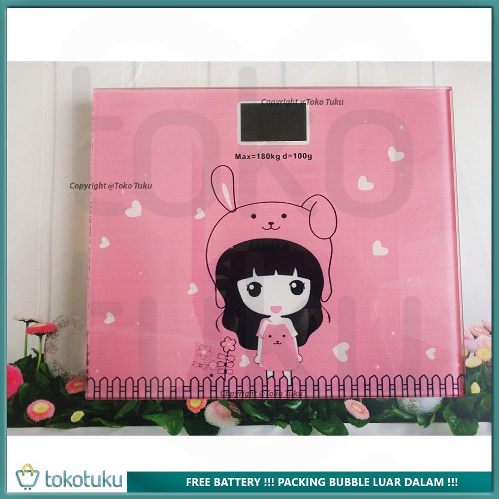 Timbangan Badan Digital 180 Kg 25 X 21 Cm Kaca Kotak - Electronic Body  Scale Gambar ff7849fce4