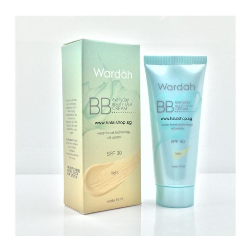 Wardah BB Everyday Beauty Balm Cream SPF 30 Light Water Break Technology Oil Control 15ml