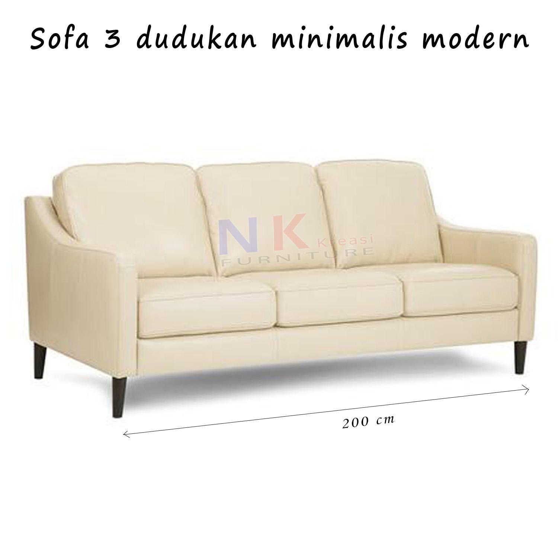 Sofa 3 dudukan minimalis, 3 seater mewah , modern , custom - JABODETABEK ONLY